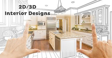 2d and 3d interior design for real estate